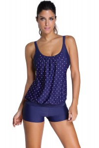 Modne tankini, top i szorty, groszki, M/L/XL