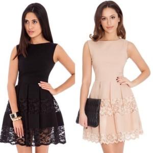691fee51db Śliczna rozkloszowana sukienka