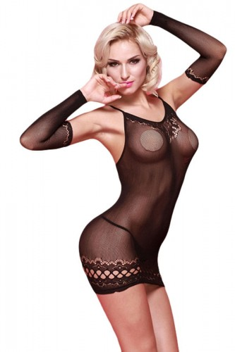 Black-Sheer-Mesh-Chemise-with-Arm-Sleeves-LC31060-2-1.jpg