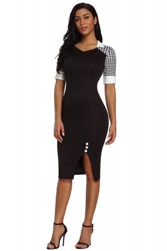 Houndstooth-Patchwork-Black-Office-Sheath-Dress-LC610097-2-1.jpg