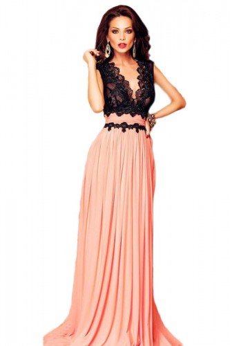 V-Neck-Lace-Bodice-Contrast-Maxi-Evening-Dress-LC60667-1.jpg