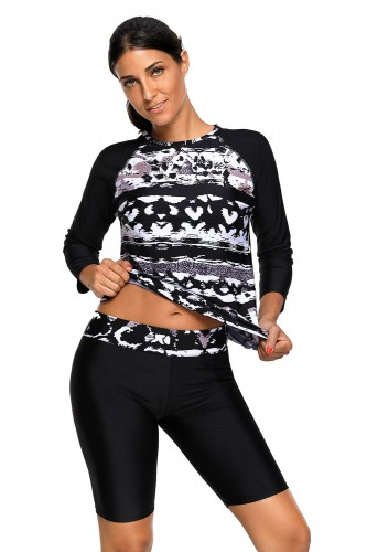 Monochrome-Abstract-Print-2pcs-Long-Sleeve-Wetsuit-LC410484-1.jpg