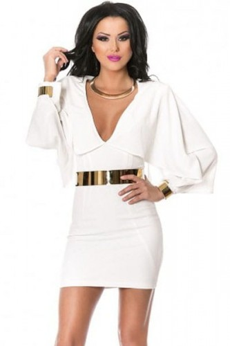 White-Batwing-Style-Belted-Mini-Dress-LC22250-12914.jpg