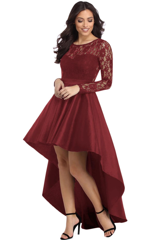 14d843b98c Elegancka satynowa suknia z koronką